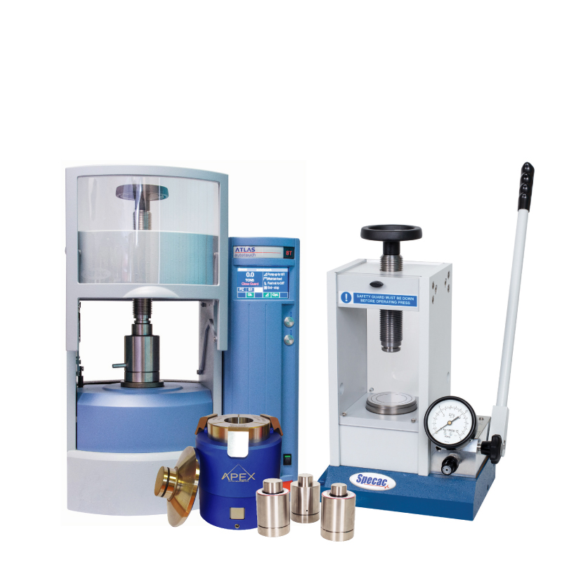XRF Sample Preparation equipment provides leading pellet pressing, film-making, heated platen, sample grinding, XRF accessories.