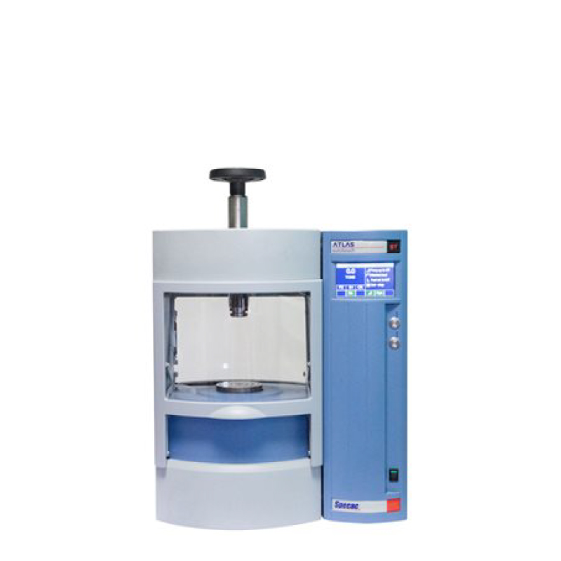 Autotouch Hydraulic Press. FTIR, XRF automatic press. Programmable controls. Reproducible pellets. 8T, 15T, 25T, 40T