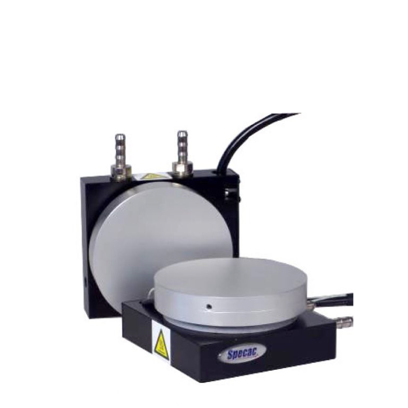 Heated Platens. Electrically Powered. Up to 300ºC temperature. Suitable for film-making. 15T load-bearing.