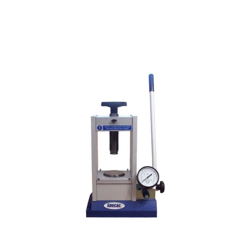 Manual Hydraulic Press, FTIR, XRF pellet press. Ideal for FTIR or XRF pellets. 15T, 25T options.