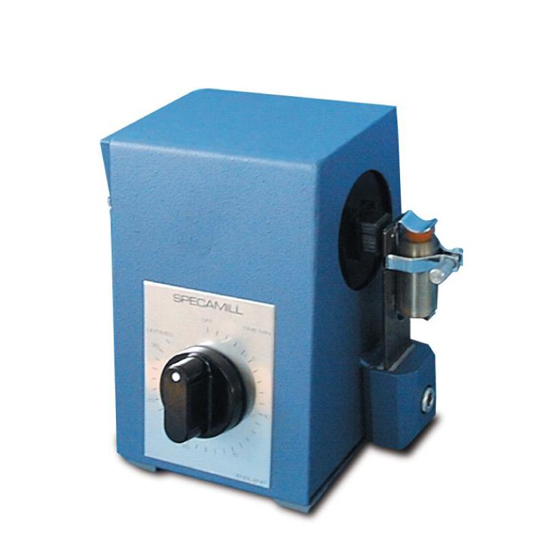Specamill, FTIR, DRIFTS Sample Mill. Adjustable vibration. Timer with override. Rapid grinding mill.