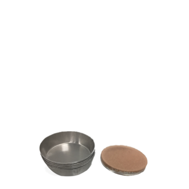 XRF Pellet Cups. 32 mm or 40 mm. Up to 1000 units. Aluminium or plastic.